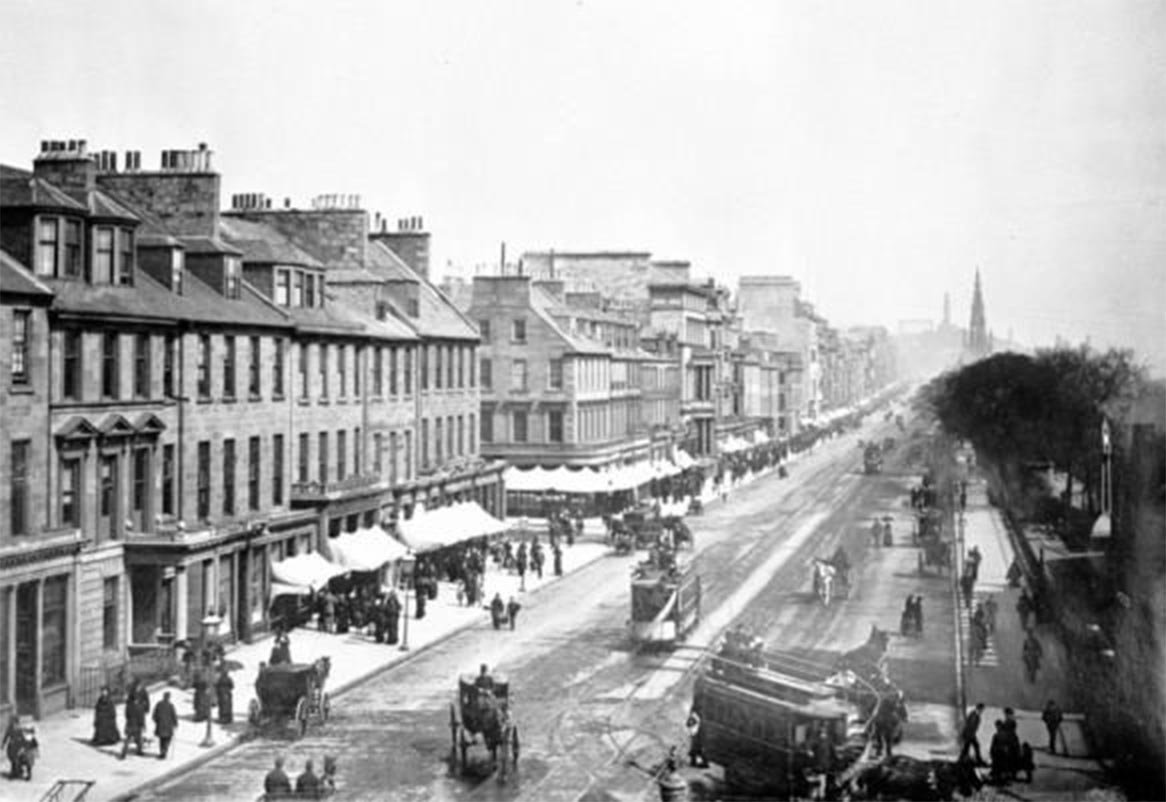 Princes Street, Edinburgh from the archives
