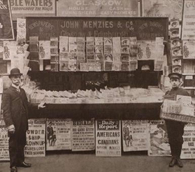 John Menzies newspaper stand