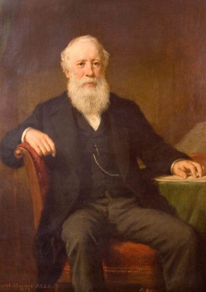 John Menzies Old Painted Portrait